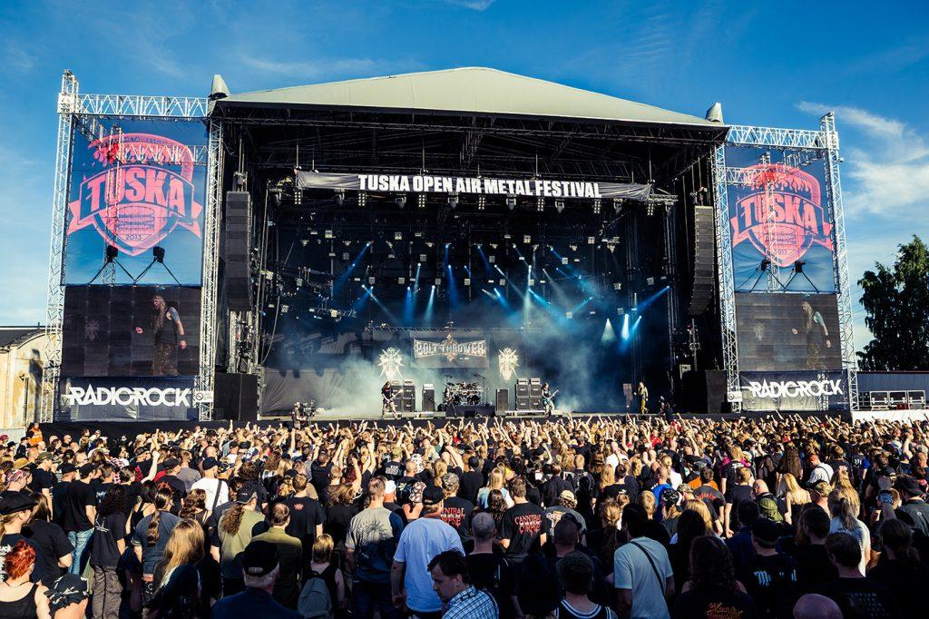 Festivais na Finlândia metal, verão e floresta tuska festival