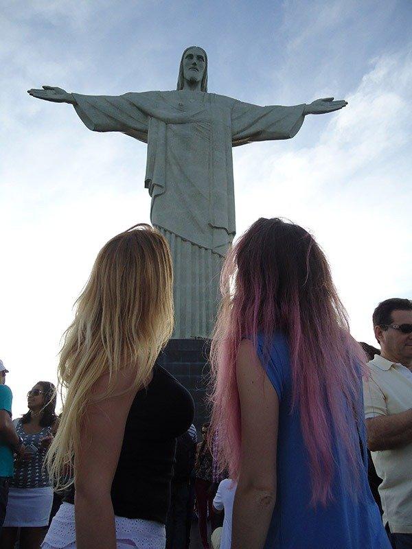 cabelos coloridos Como chegar ao Cristo Redentor de trem no Rio de janeiro
