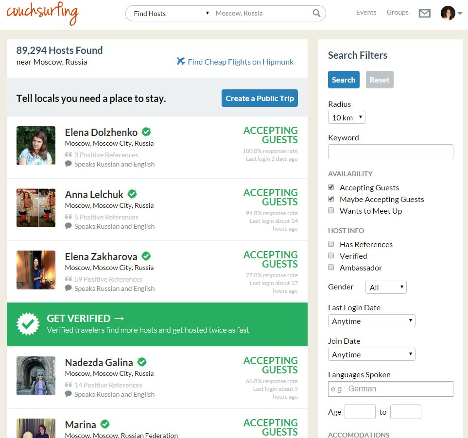 Viajar barato 10 sites de hospedagem alternativa couchsurfing