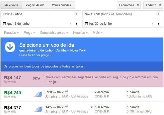 Encontre passagens baratas com Google Flight dica