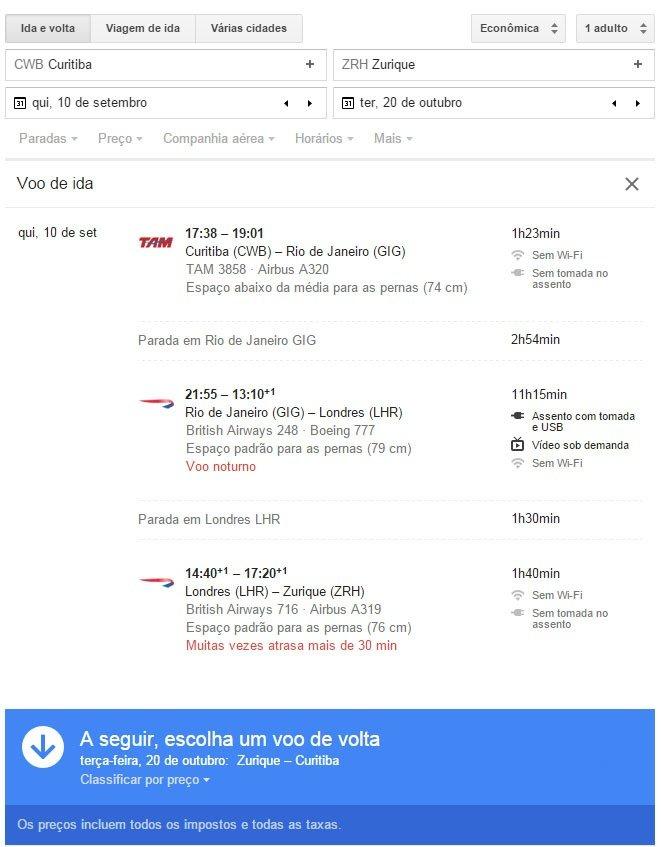 Encontre passagens baratas com Google Flight sem taxa