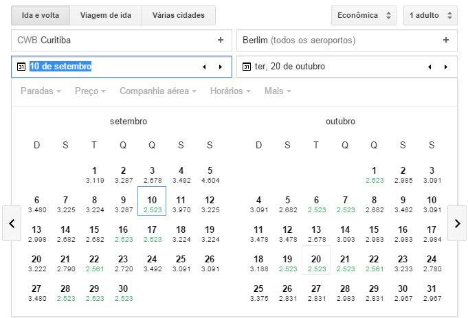 Encontre passagens baratas com Google Flight