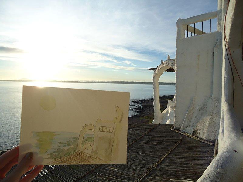 Aquarelando no Uruguai apure guria casa pueblo (6)