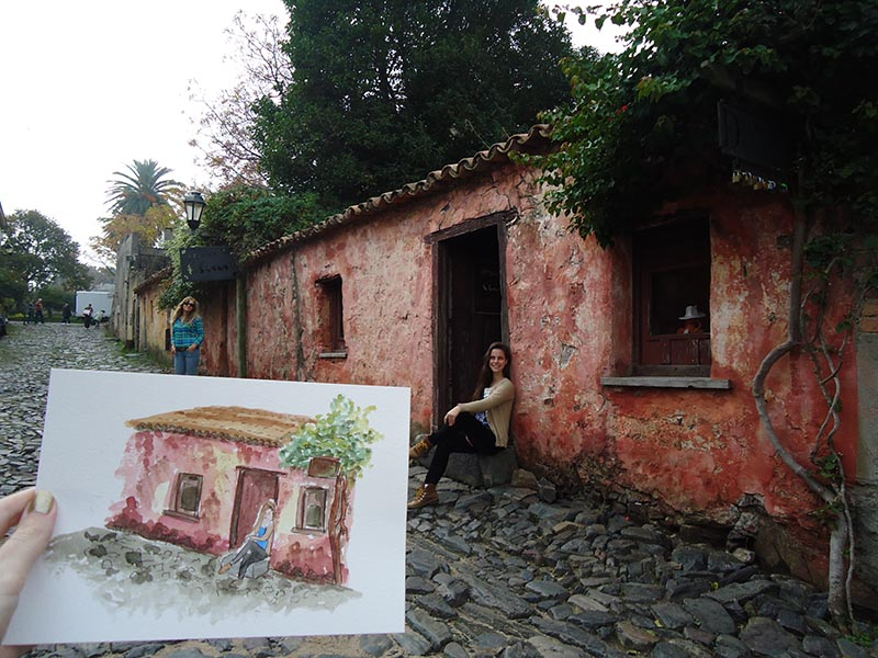 Aquarelando no Uruguai apure guria casa suspiros colonia del sacramento