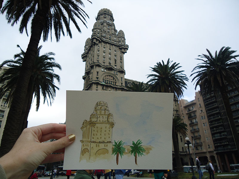 Aquarelando no Uruguai apure guria montevideo