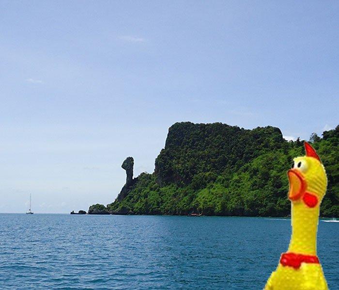 Tour 4 Islands em Krabi na Tailândia chicken island