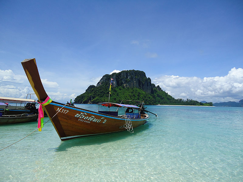 Tour 4 Islands em Krabi na Tailândia tup island barco
