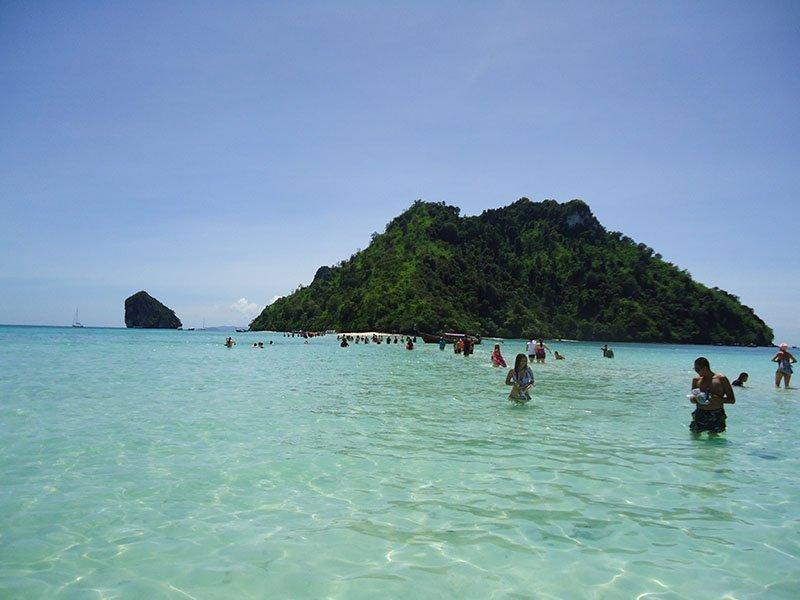 Tour 4 Islands em Krabi na Tailândia tup mor island travessia