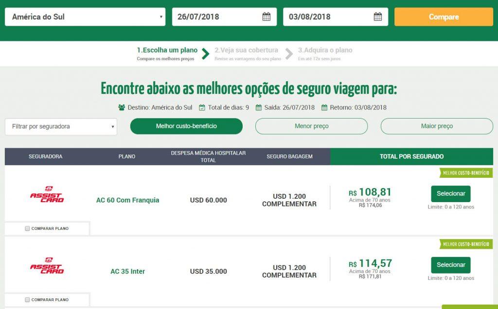comparar preços de seguro viagem qual e melhor