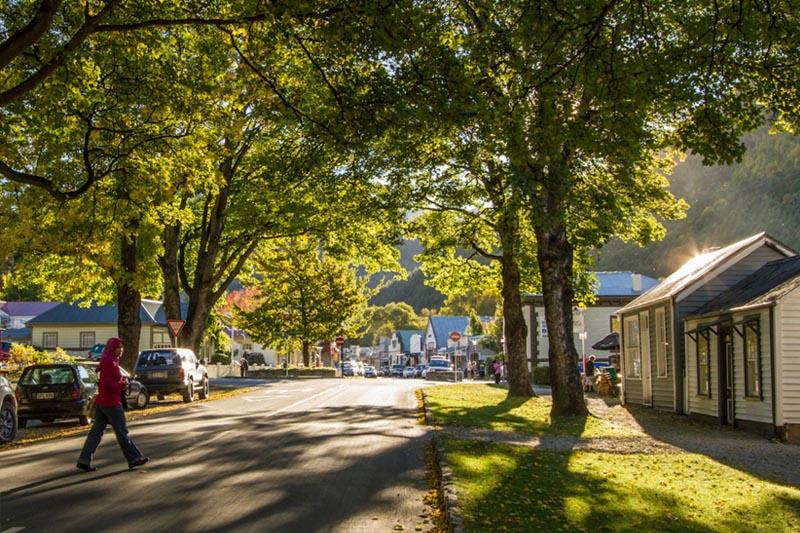 Arrowtown-Nova-Zelândia-avenida principal