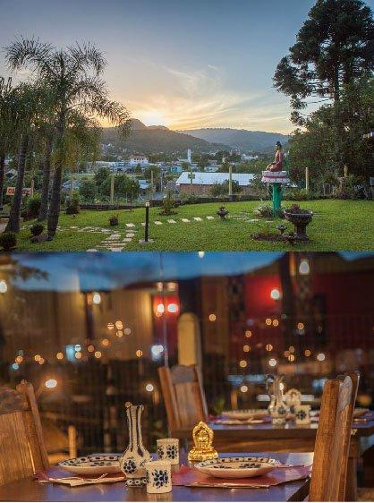 Restaurante tibetano em Três Coroas ambiente 2