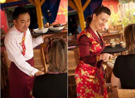 Tashiling restaurante tibetano em Três Coroas roupas