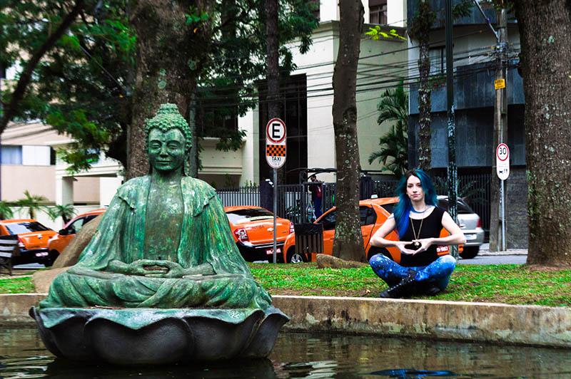 buda Praça do Japão em Curitiba