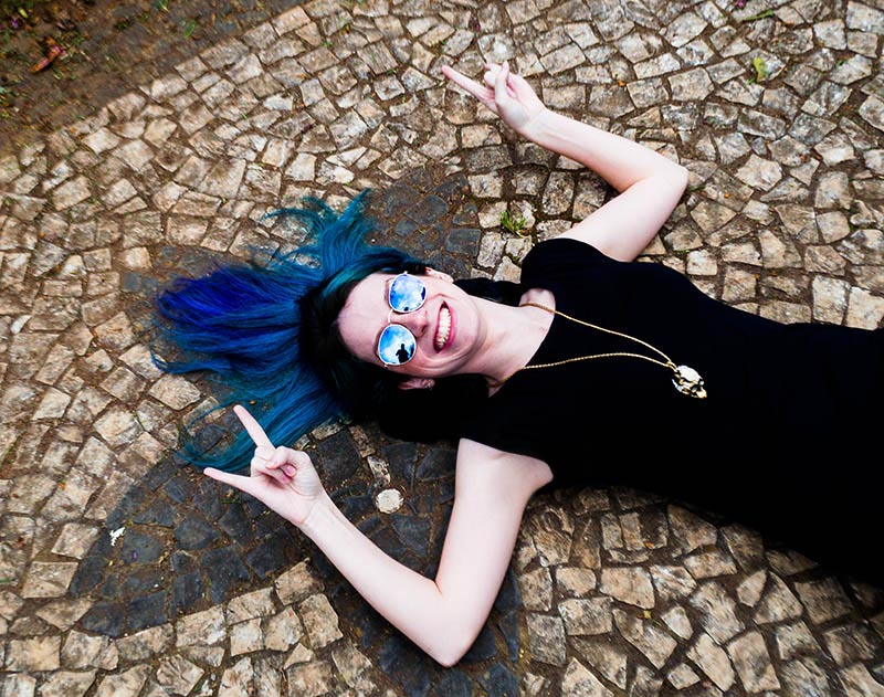chão sakura Praça do Japão em Curitiba calçamento