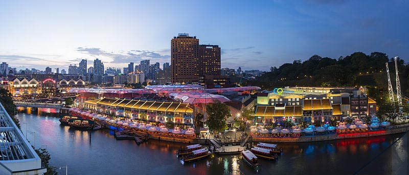 Guia de Cingapura clarke quay barco