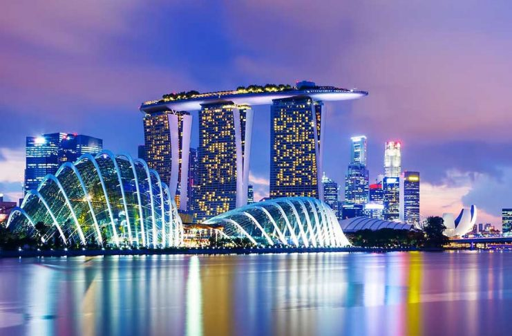 predios na marina bay em Singapura