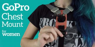 gopro suporte peitoral gopro chest mount for women diy