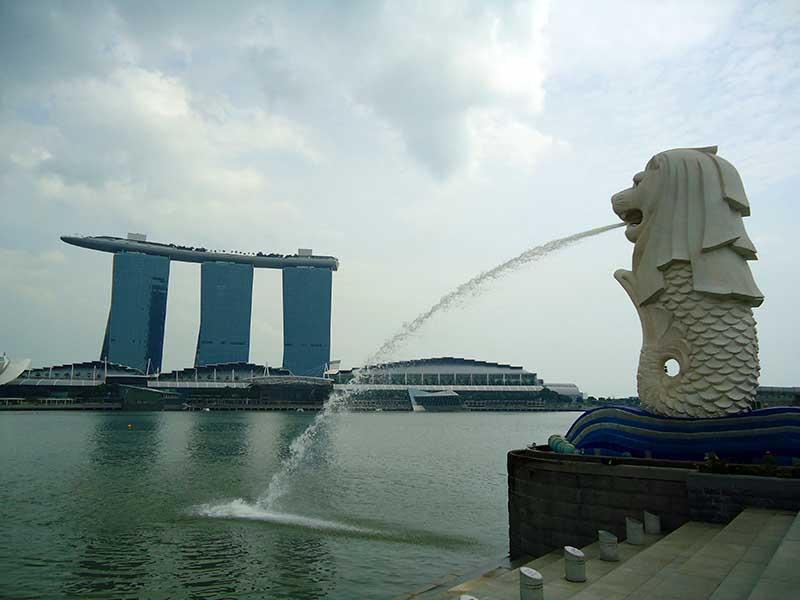 guia cingapura marina bay merlion