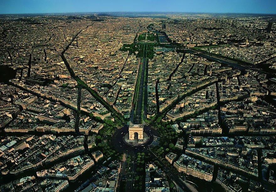 lugares incríveis paris-fotografia-aerea