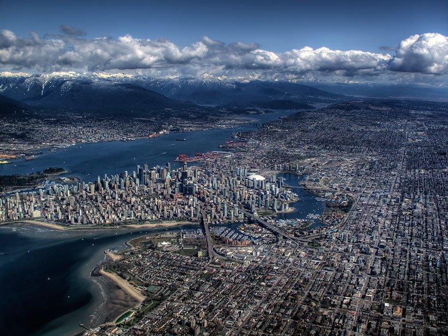 lugares incríveis vancouver-fotografia-aerea
