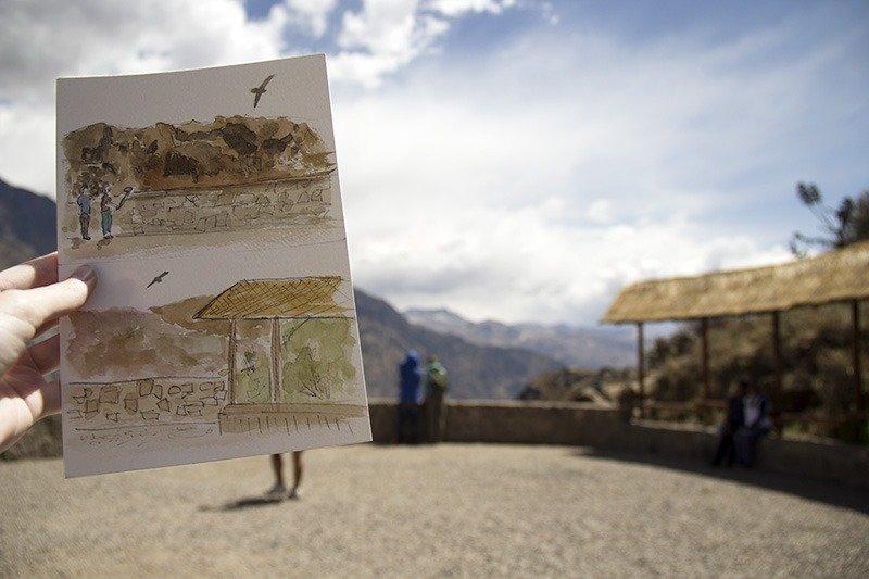 Aquarela Peru colca canion