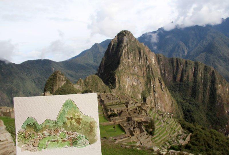 Aquarela Peru machu picchu (2)