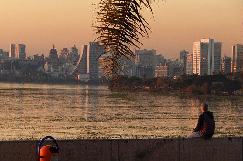 Por do sol no Guaíba porto alegre (1)