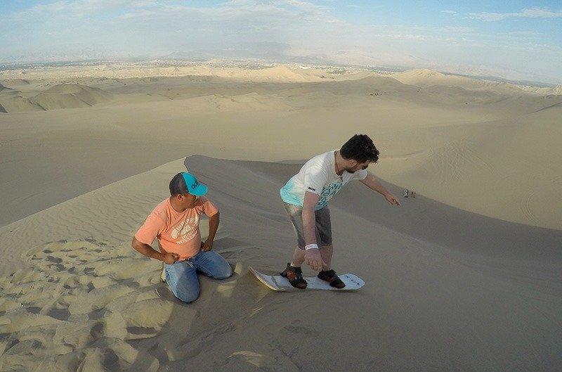 como chegar em huacachina sandboard