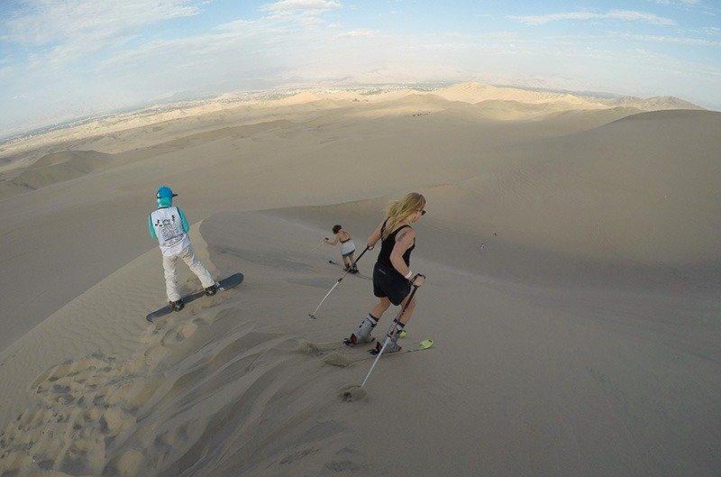 esqui na areia em huacachina
