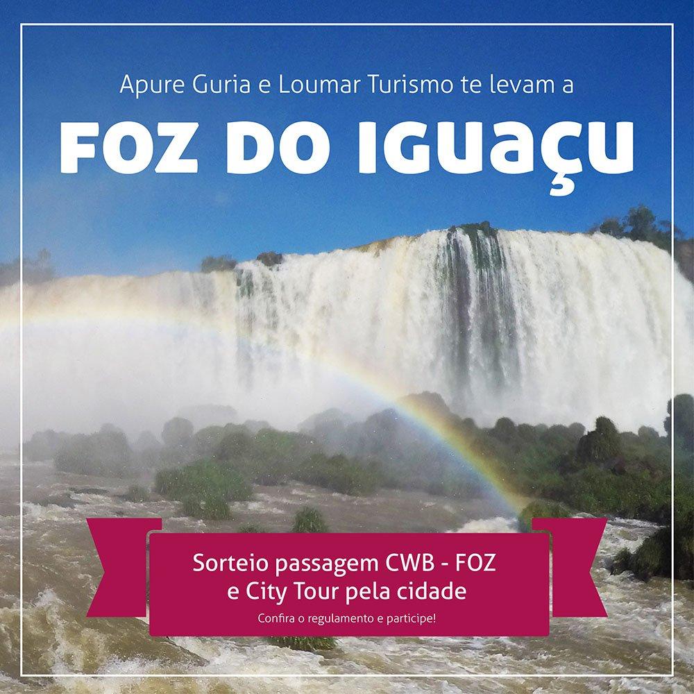 Sorteio Foz do Iguaçu Apure Guria Loumar Turismo passagem aerea