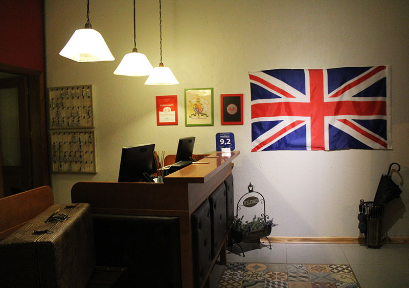 bandeira hostel britânico