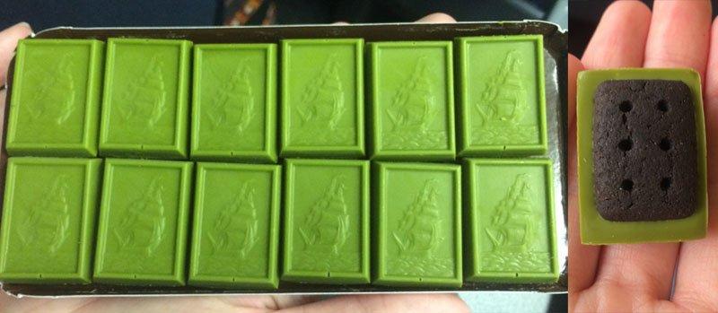 chocolate cha verde matcha