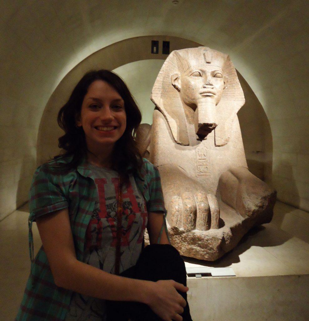 esfinge Antigo Egito no Museu do Louvre