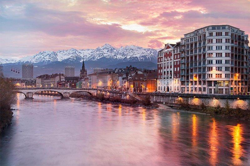 grenoble cidades nas montanhas na europa