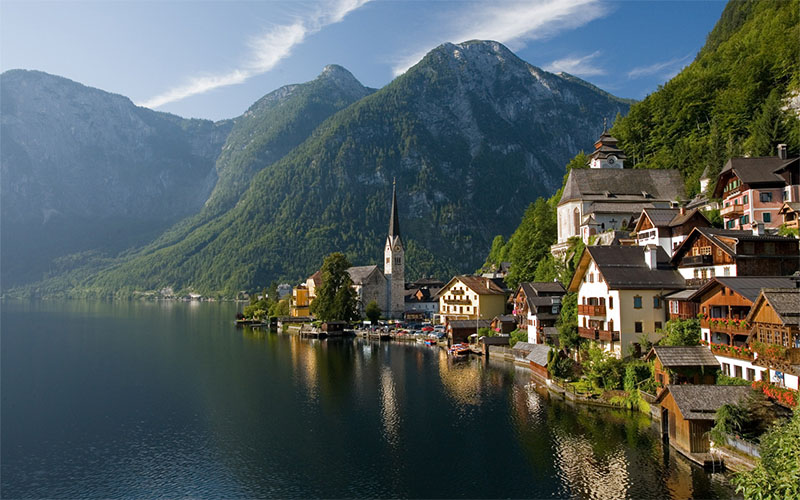 hallstatt cidades nas montanhas na europa