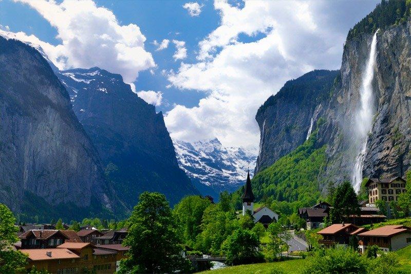 lauterbrunnen cidades nas montanhas na europa