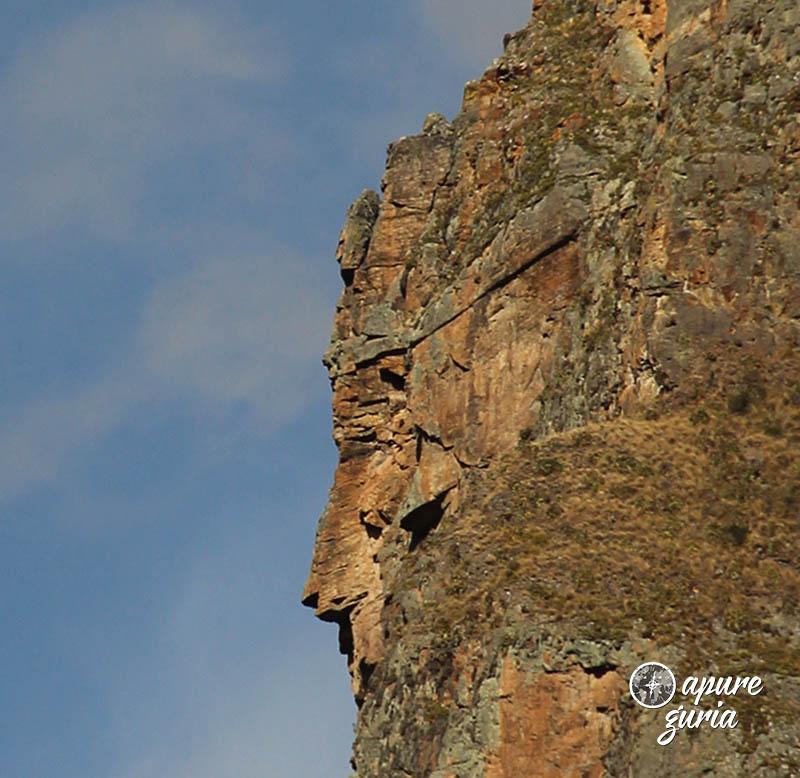 ollantaytambo rosto na montanha