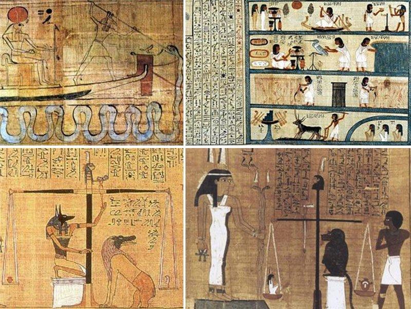 papiros caminho dos mortos alem antigo egito