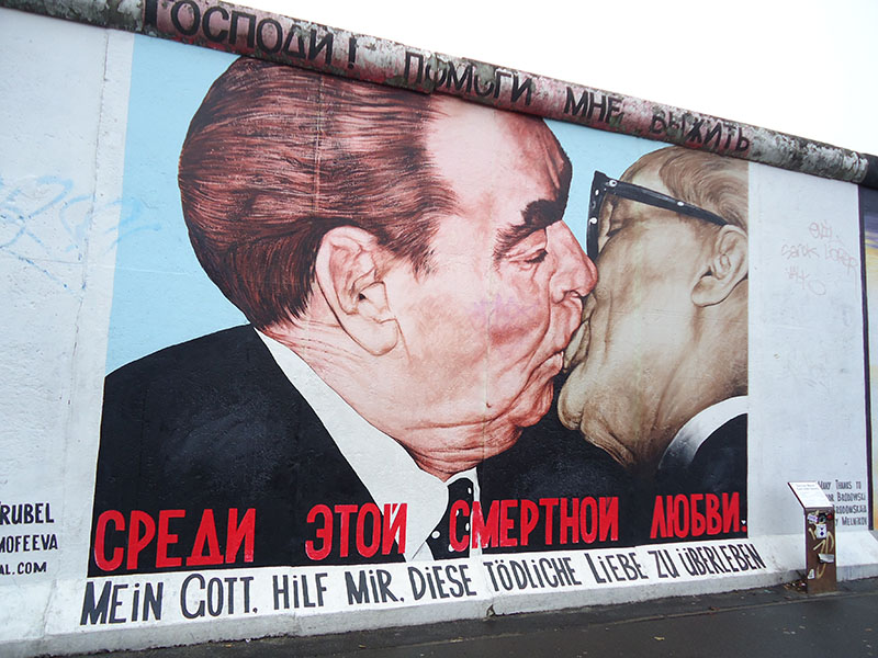 10 lugares legaisgrátis em Berlim mural east side gallery