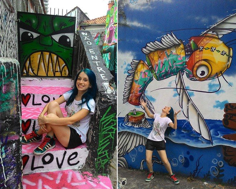 Grafites no Beco do Batman: arte urbana em SP