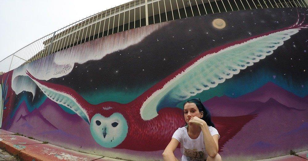 beco do batman grafite coruja