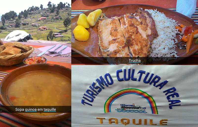 comida ilha taquile tour