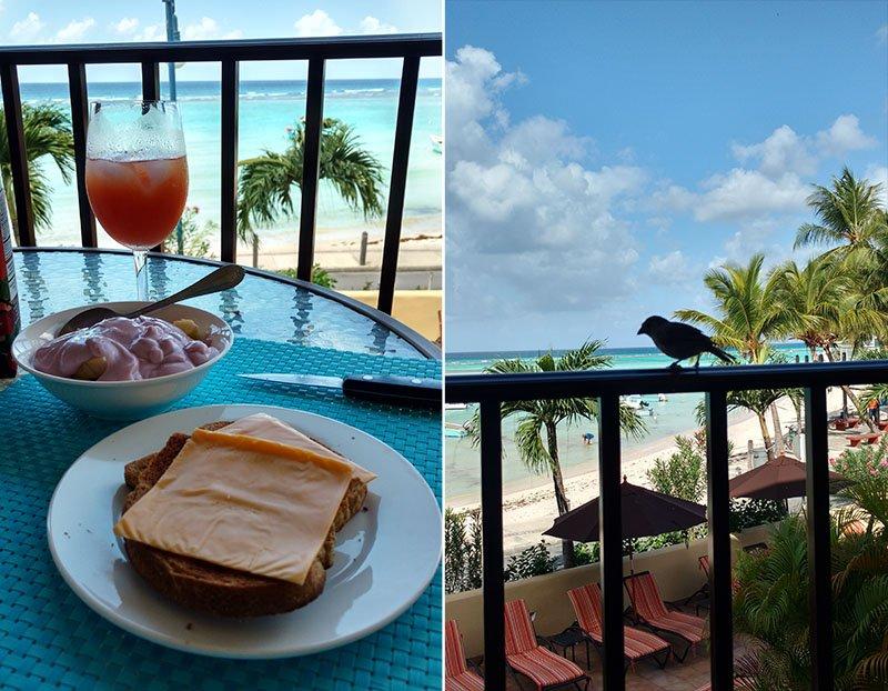café da manhã yellow bird hotel passarinho