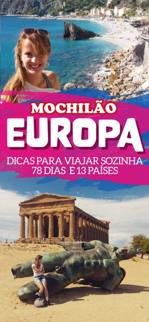 Mochilão sozinha pela Europa, dicas e roteiro