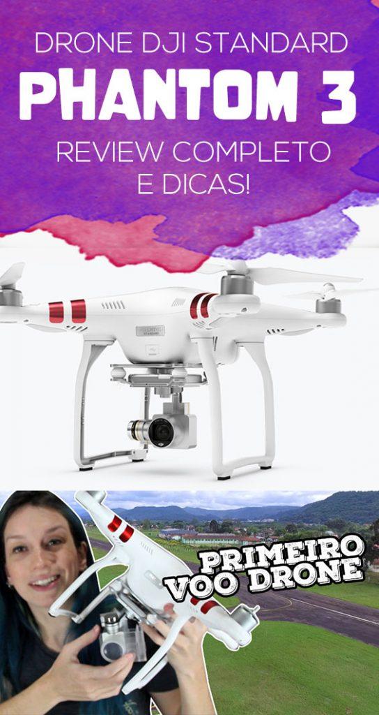 Review drone Dji Phantom 3 Standard, dicas de voo