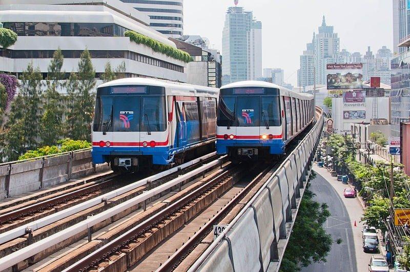 skytrain-bts transporte em bangkok