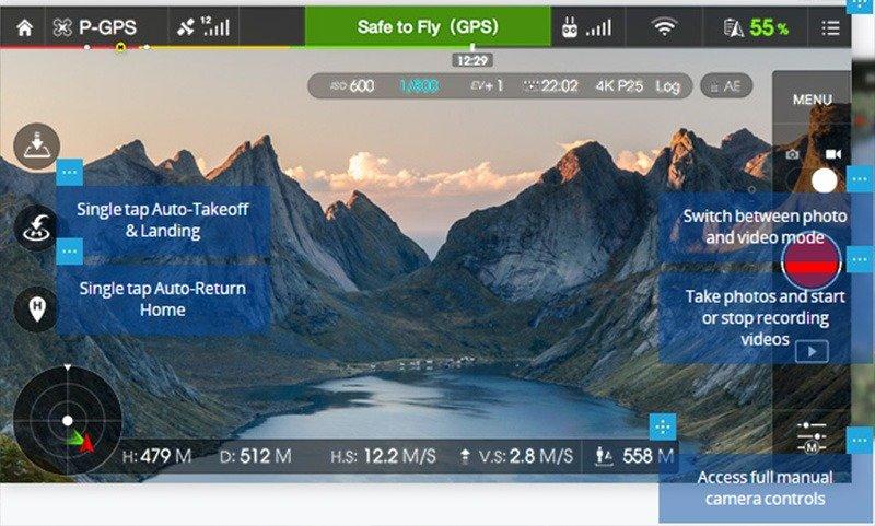 tela-aplicativo-dji-drone-phantom