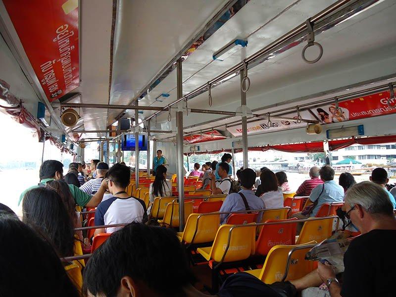 tourist boat transporte em bangkok-chao-barco