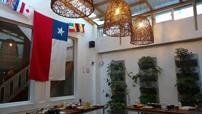 area-cafe-da-manha-hostel em santiago