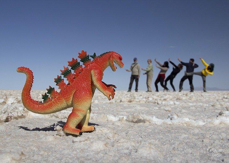 dinossauro fotos salar de uyuni